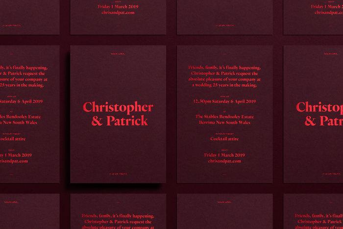 Christopher & Patrick wedding invitation 2