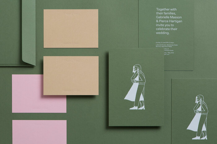 Gabrielle & Pierce wedding invitation 1