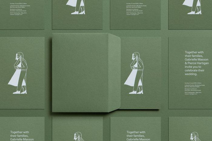 Gabrielle & Pierce wedding invitation 3