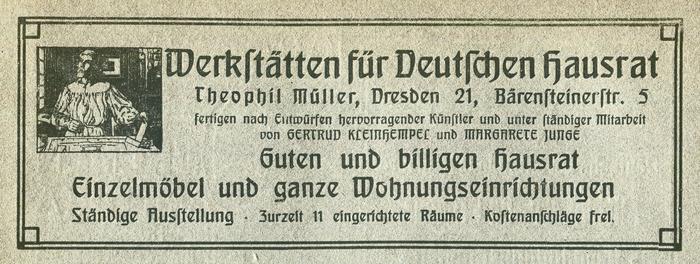 Werkstätten für Deutschen Hausrat ad (1906) 1