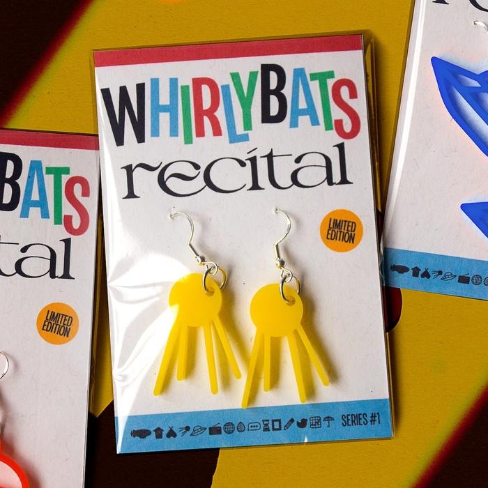 Whirlybats x Recital earrings 3