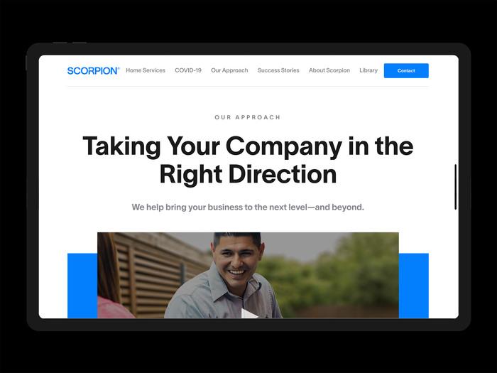 Scorpion Inc. website 1