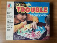Pop-O-Matic Trouble board games (1980s)