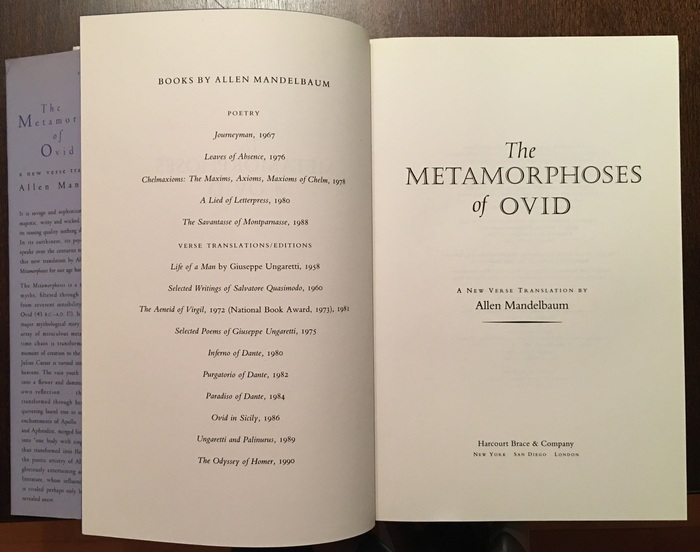 The title page features  and  Italic.