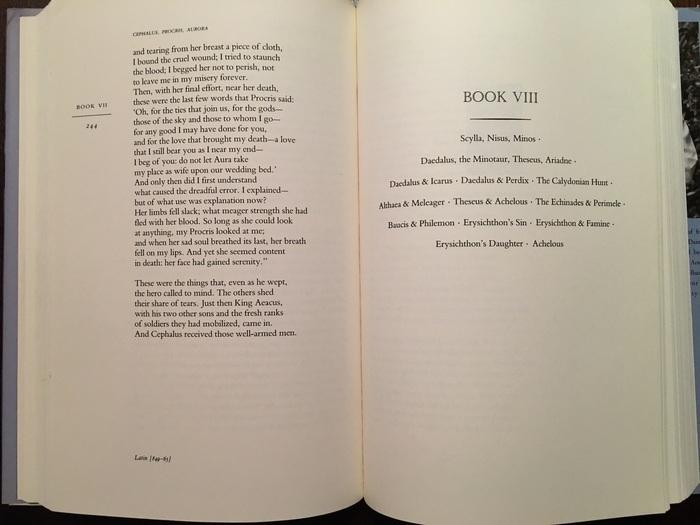 The Metamorphoses of Ovid translated by Allen Mandelbaum 4