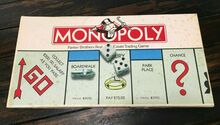 <cite>Monopoly</cite> board game (Parker Brothers, 1985)