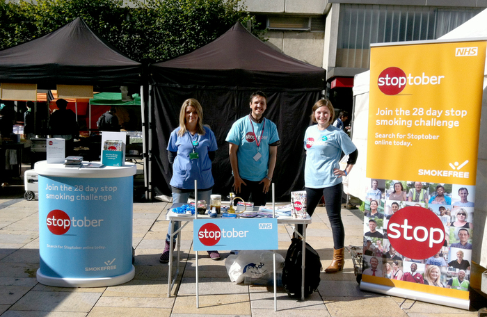 Stand from the touring Stoptober roadshow