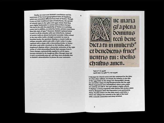 Erhard Ratdolt's Index characterum, the earliest known type specimen, Poem Pamphlet No.3 2