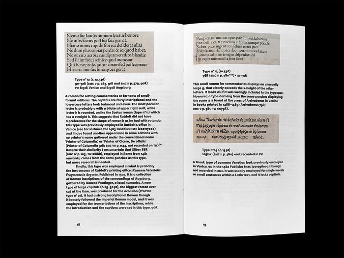 Erhard Ratdolt's Index characterum, the earliest known type specimen, Poem Pamphlet No.3 3