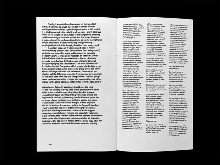 Erhard Ratdolt's Index characterum, the earliest known type specimen, Poem Pamphlet No.3 4