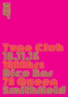 Type Club poster, Nov. 2015