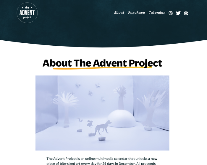 The Advent Project 2020 Calendar 2