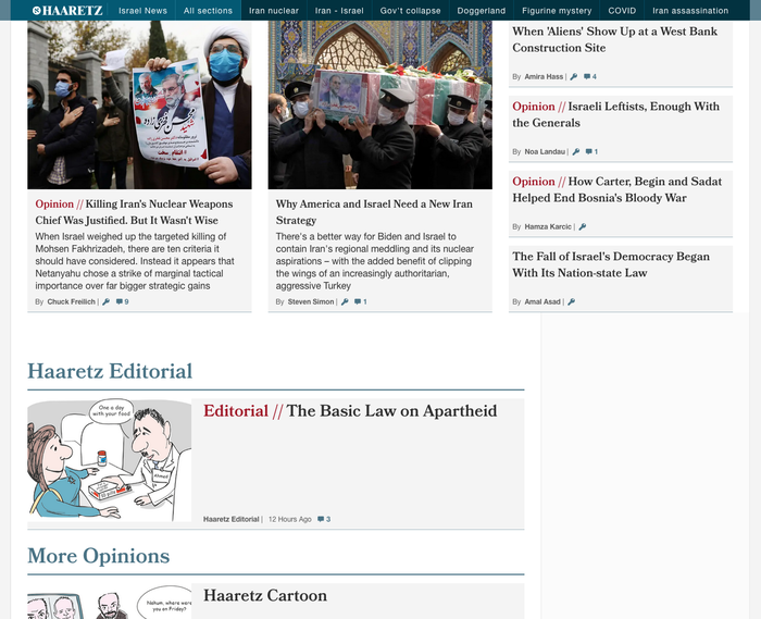 Bookmania is used for headlines in the Opinion section.