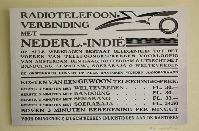 Radiotelefoon-Verbinding met Nederlands-Indië