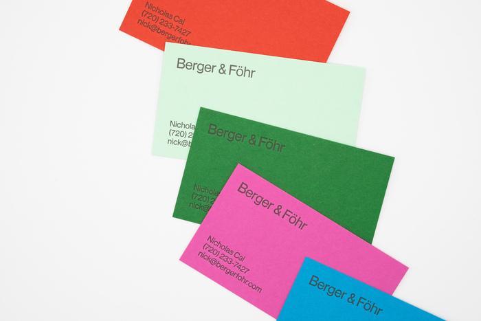 Berger & Föhr stationery 1