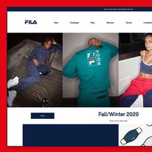 Fila UK website