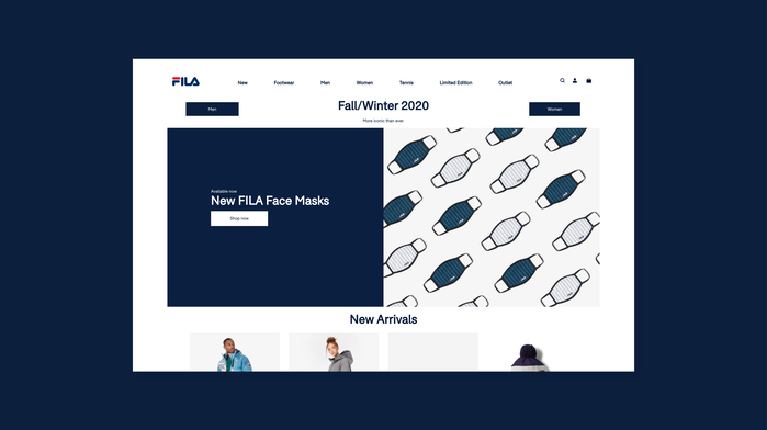 Fila UK website 4