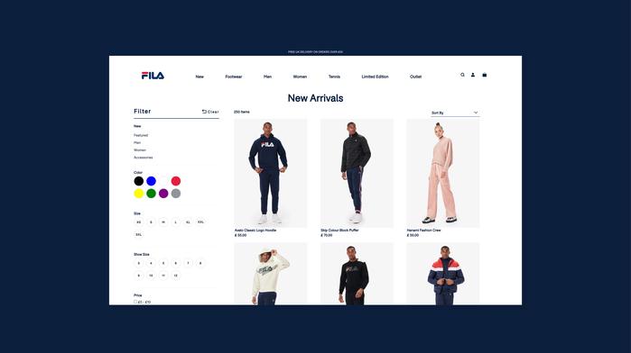 Fila UK website 6