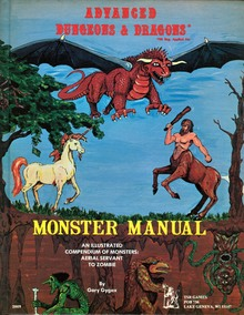 <cite>Advanced Dungeons and Dragons</cite>, first edition rulebooks
