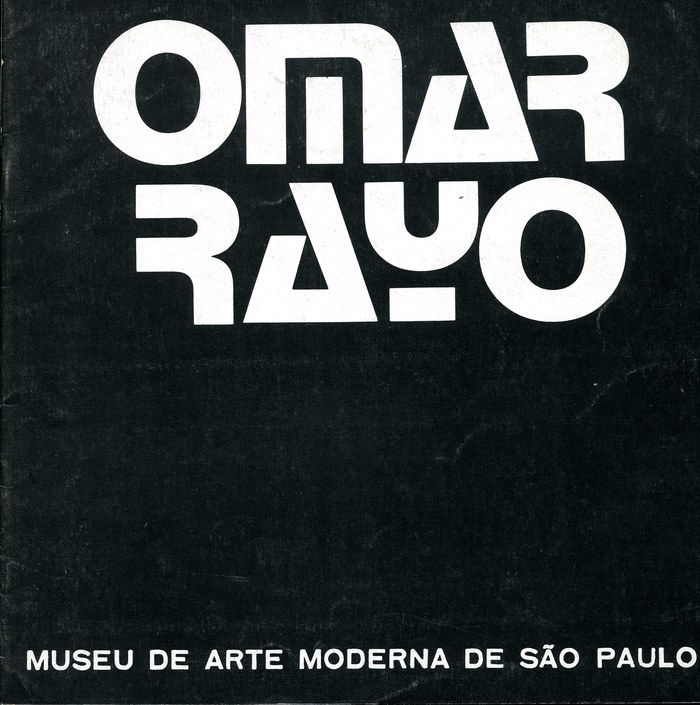 (1971) and caps from an unidentified wide grotesk (similar to  or  breit) for Omar Rayo at the Museu de Arte Moderna de São Paulo.