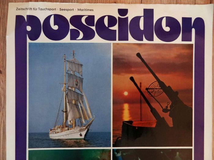 Poseidon magazine poster (1977) and covers (1978–1983) 1