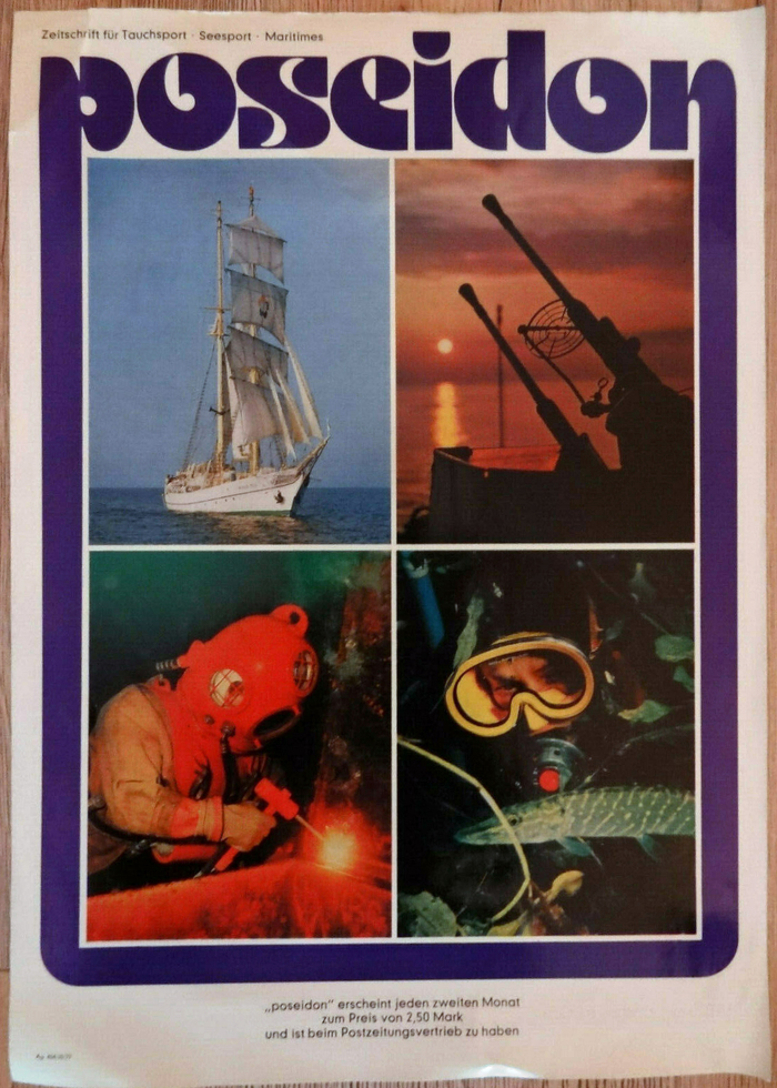 Poseidon magazine poster (1977) and covers (1978–1983) 2