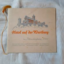 Silvesterfeier 1956 at Hotel auf der Wartburg menu