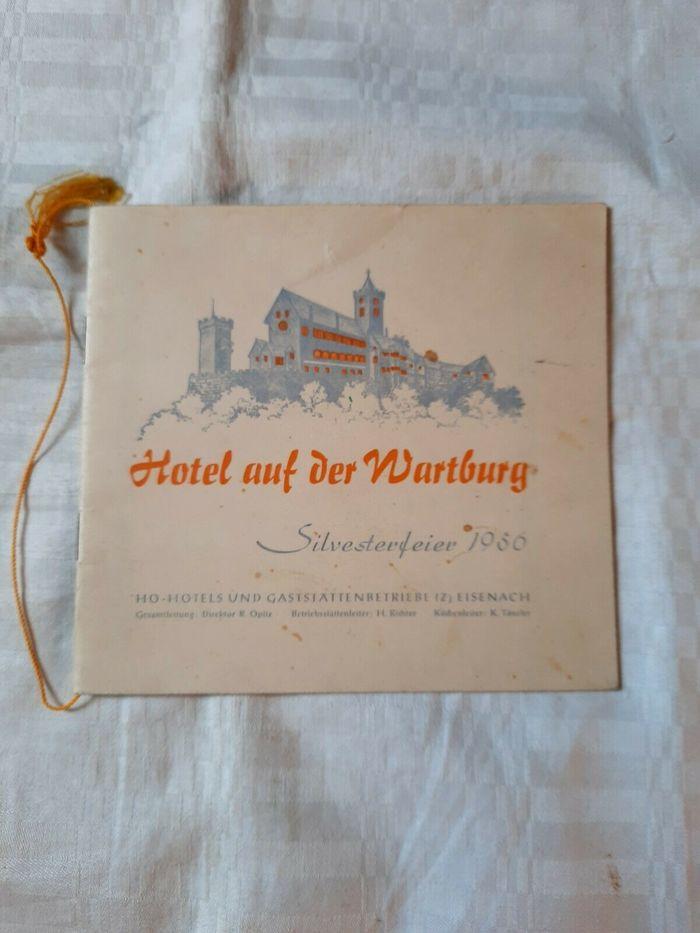 Hotel auf der Wartburg Silvesterfeier 1956 menu 1