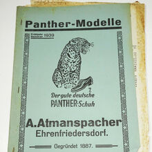 "Panther-Modelle product catalog by A.<span class=""nbsp"">&nbsp;</span>Atmanspacher (1939)"