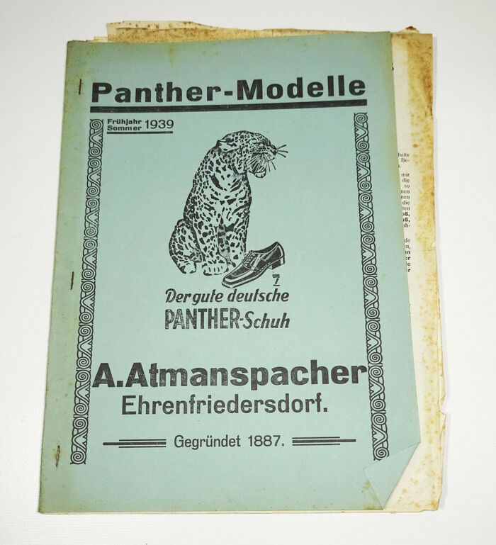 Panther-Modelle product catalog by A.Atmanspacher (1939) 1