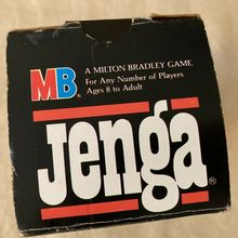Jenga game packaging (1986)