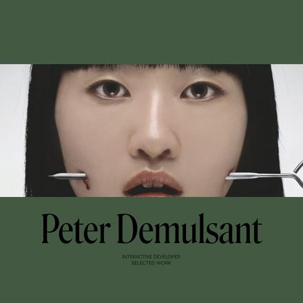 Peter Demulsant portfolio website