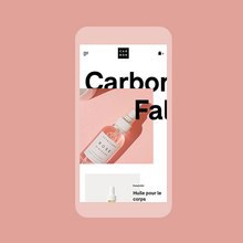 Carbon Beauty website design