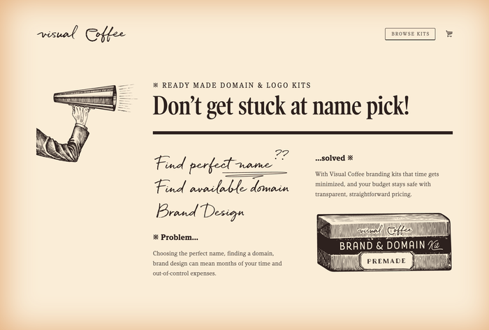 Visual Coffee website 1