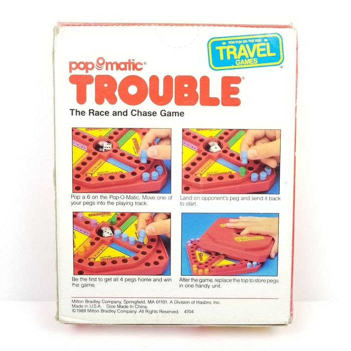 Pop-O-Matic Trouble board games (1980s) 6