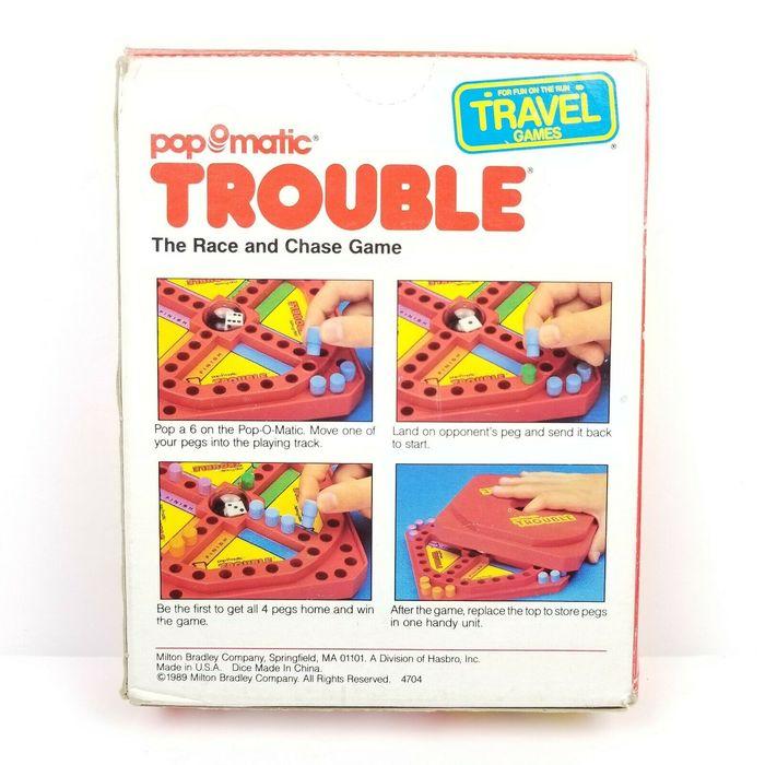 Pop-O-Matic Trouble board games (1980s) 6