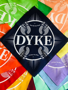 """DYKE"" hankies by <cite>WMN</cite>"