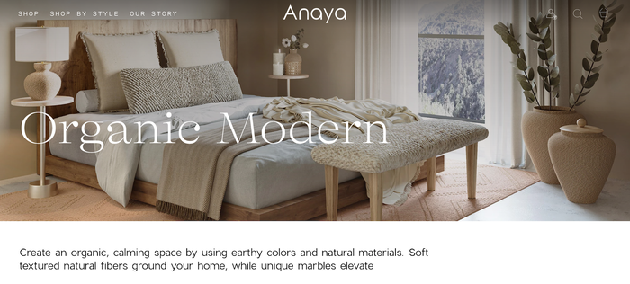 Anaya Home website 2