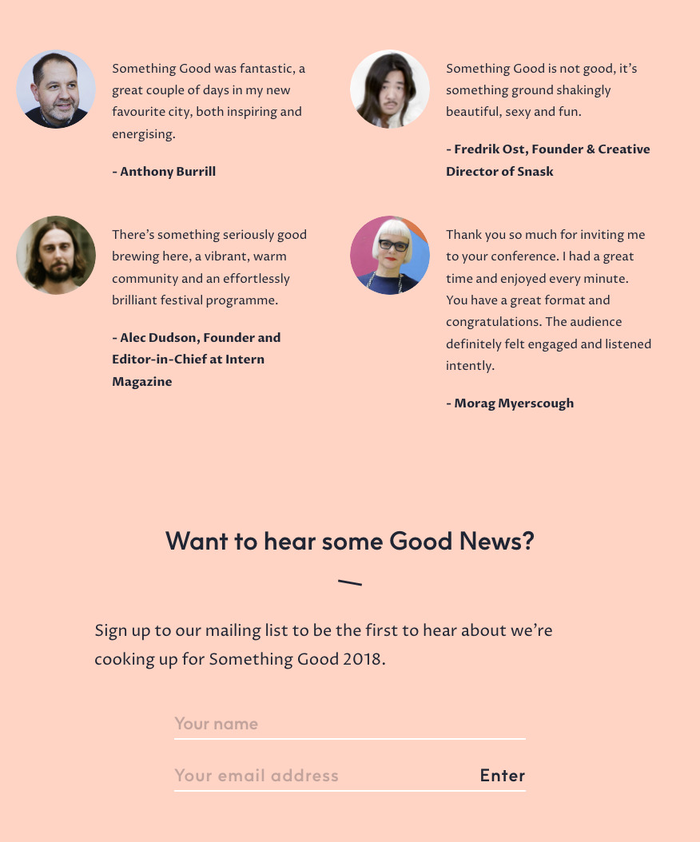 Homepage detail.