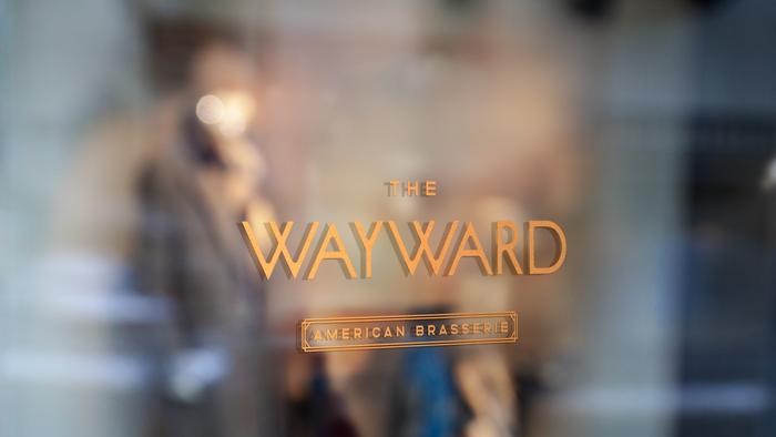 "Logotype on the window. ""Wayward"" is in Sud, the rest in Altero."