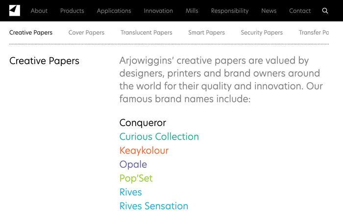 Arjowiggins identity and website 2