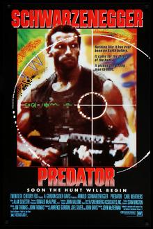 <cite>Predator</cite> (1987) movie poster