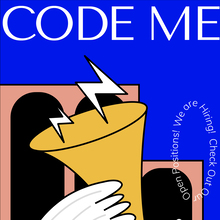 Code Me recruitment poster