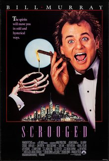 <cite>Scrooged </cite>(1988) movie poster