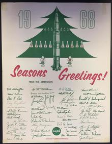 Apollo-8 1968 Seasons greetings poster