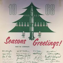 Apollo-8 1968 Seasons greetings poster