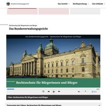 Bundesverwaltungsgericht website