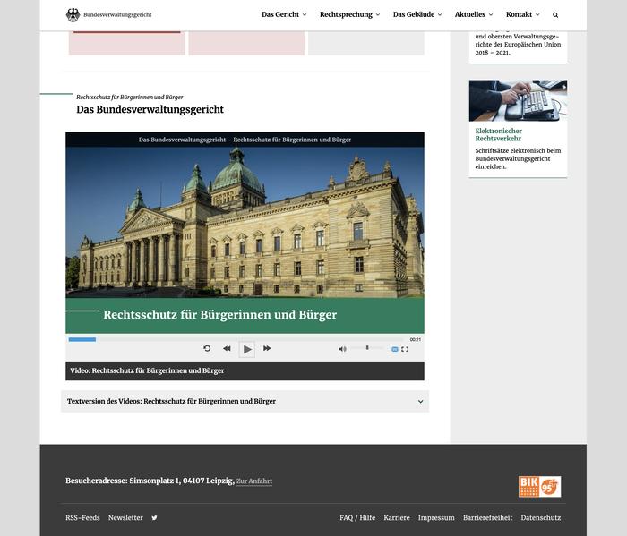 Bundesverwaltungsgericht website 1