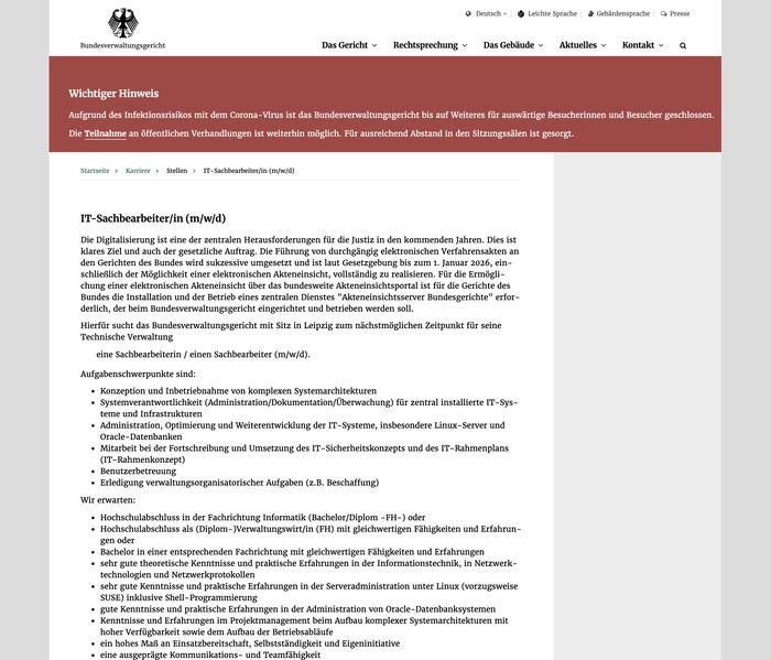 Bundesverwaltungsgericht website 11