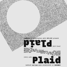 Plaid at Whelan's gig poster for U:mack